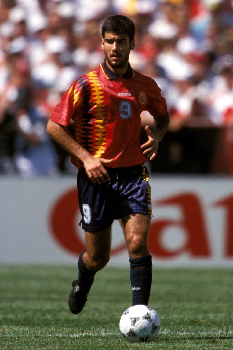 Guardiola in het Spaanse shirt op het WK 1994.