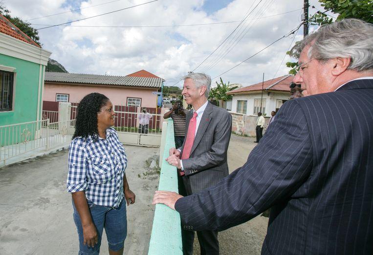 In 2013 bezocht toenmalig minister Ronald Plasterk van Binnenlandse Zaken en Koninkrijksrelaties Curacao. Beeld ANP