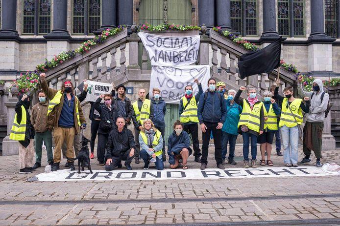 De verschillende actiegroepen willen een debat ten gronde over het woonbeleid van de Stad Gent.