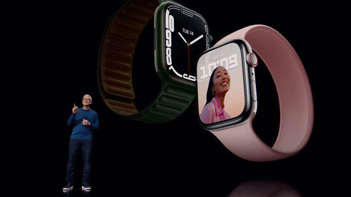 Tim Cook a présenté la nouvelle montre connectée d'Apple: l'Apple Watch 7.