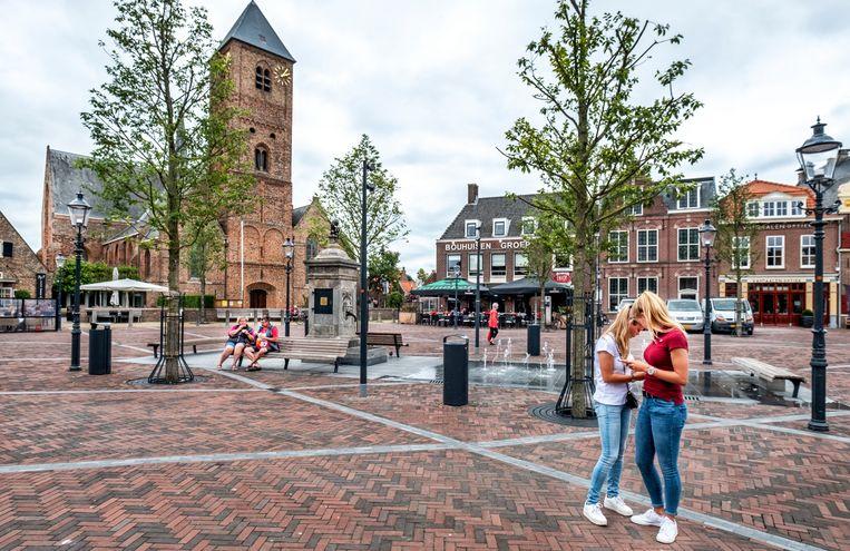 Het centrum van Naaldwijk, de plaats van de Haagse stichting van Yunus Emre een islamitisch school wil verwezenlijken. Beeld Raymond Rutting
