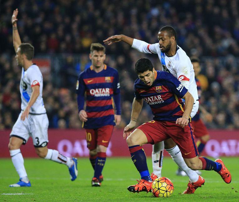 Luis Suarez aan de bal. Beeld afp