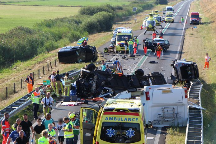 Vorig jaar augustus ging het nog goed mis op de N50 bij Kampen, waar bij een ongeluk met meerdere voertuigen meerdere mensen gewond raakten.