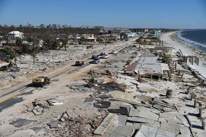 In oktober richtte orkaan Michael grote schade aan in Florida