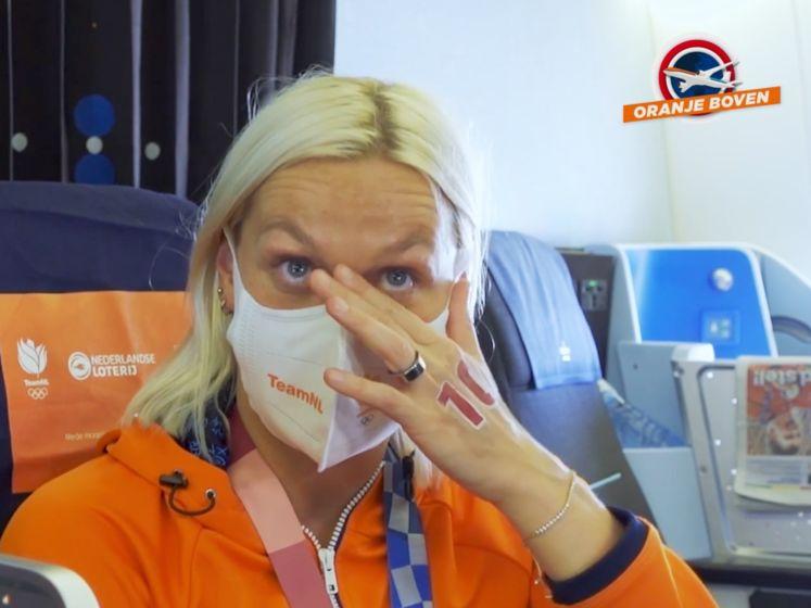 Sharon van Rouwendaal in tranen na videoboodschap ouders: 'Ik wilde ze trots maken'