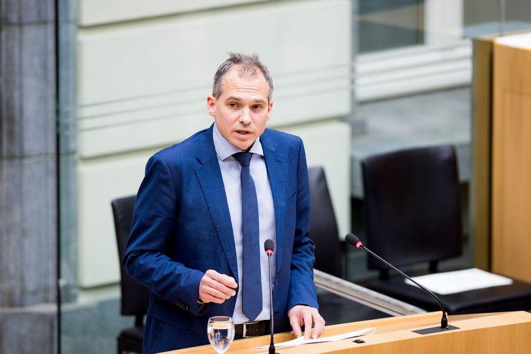 Vlaams minister van Wonen Matthias Diependaele. Beeld BELGA