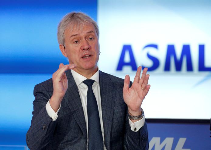 Topman Peter Wennink van ASML.