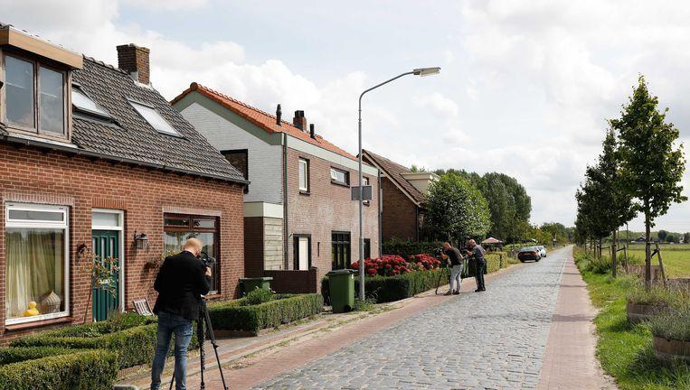 Het huis van de 22-jarige verdachte in Langeweg. Beeld anp