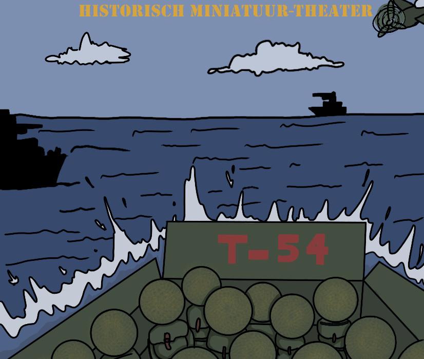 Leerlingen van de KSE werkten in hun vrije tijd aan een project dat kunst en geschiedenis combineerde. Ze maakten een eigen documentaire over D-Day en maakten daar ook zelf deze poster voor. Dit is een fragment van de poster.