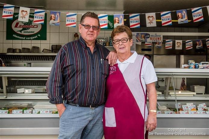 Echtpaar Lammers stopt na veertig jaar met viskraam Lammers.