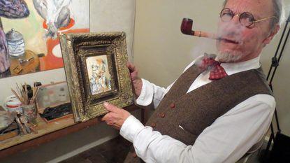 Kunstenaar (73) schildert eigen doodsprentje