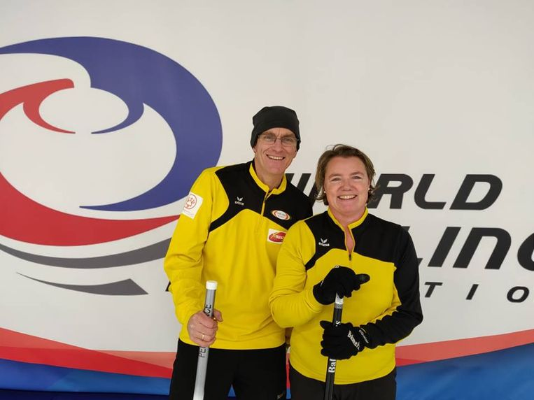 Veerle Geerinckx en Dirk Heylen wisten zich te plaatsen voor het WK curling Mixed Double in Noorwegen.