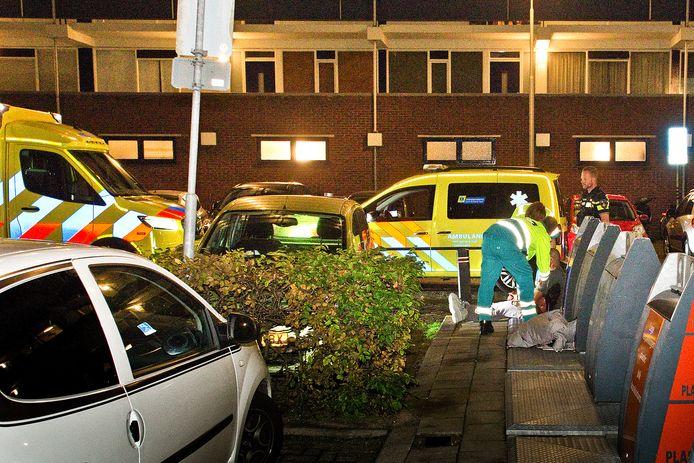 Bij de schietpartij in de Sperwerstraat raakten twee mannen gewond.