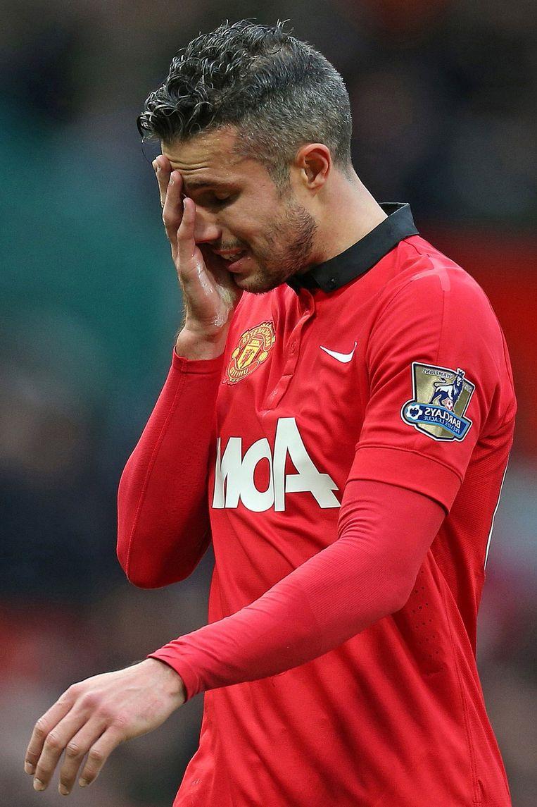 Robin van Persie werd na een succesvol WK bij United al snel aan de kant geschoven door Van Gaal. Beeld pro shots