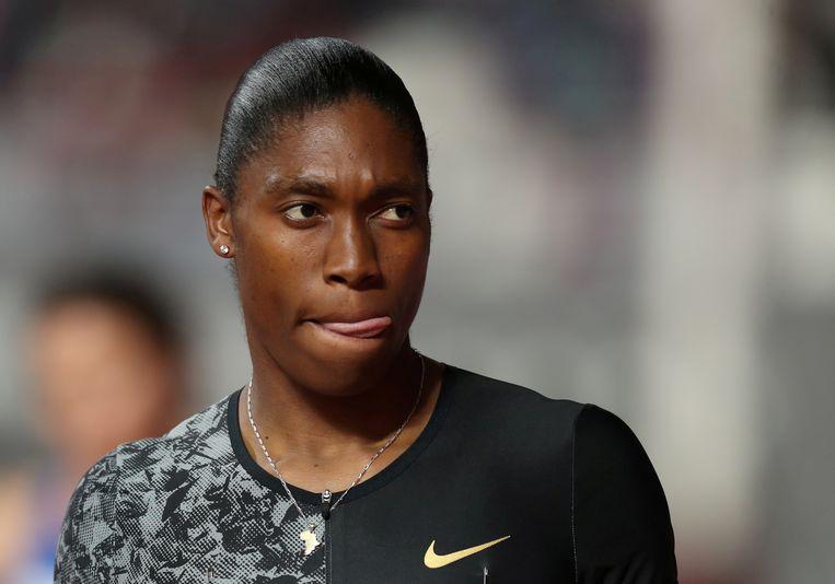De interseksuele atlete Caster Semenya op het WK in Doha, vorig jaar. Beeld REUTERS