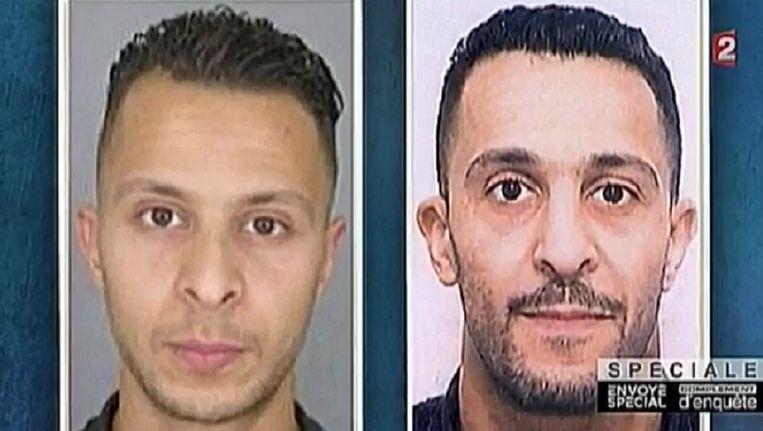 Salah Abdeslam en zijn broer Brahim, die zichzelf opblies bij de aanslagen in Parijs. Beeld kos