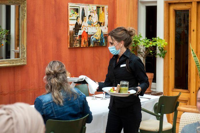 Aan de lunch tijdens het fieldlab in het Bilderberg-hotel in Oosterbeek.