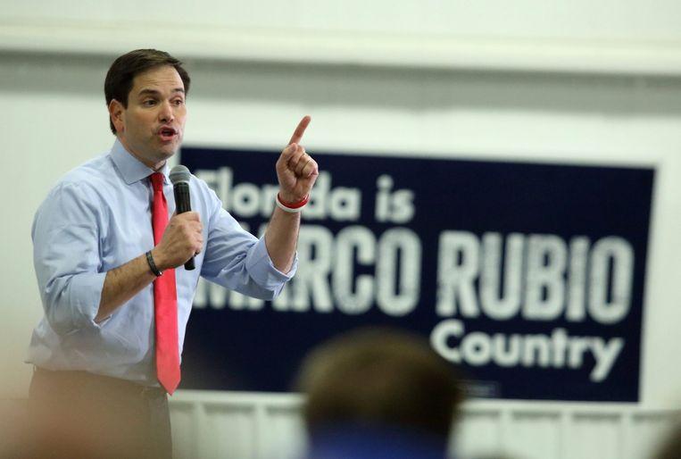 Kandidaat Rubio voert campagne in sleutelstaat Florida. Beeld epa