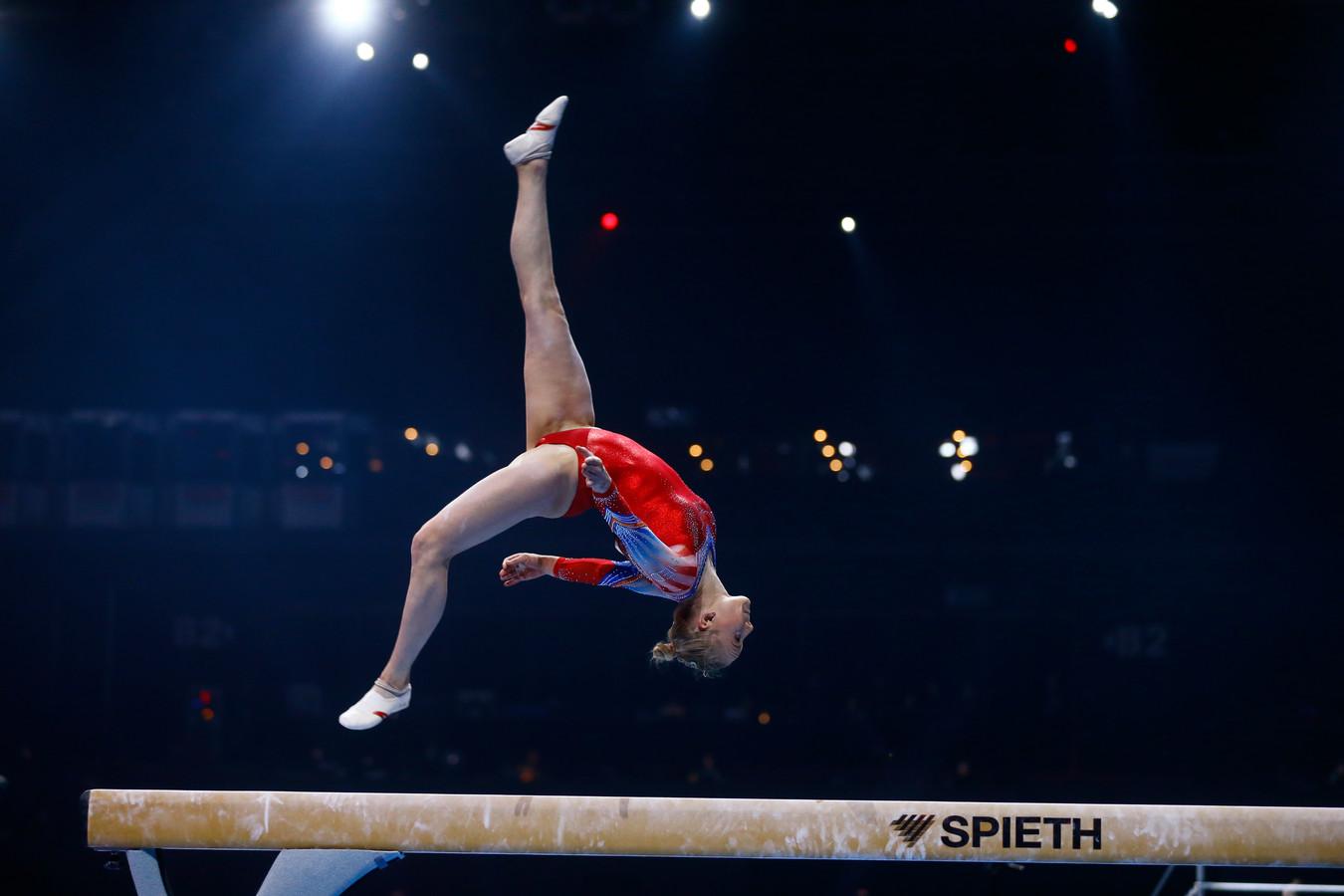 Ook Lieke Wevers plaatste zich voor de finale op de balk.
