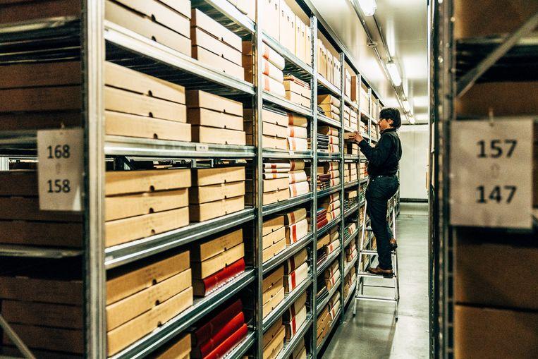 Het Gents erfgoedcentrum AMSAB moest de voorbij zes jaar het personeelsbestand terugschroeven van veertig naar dertig werknemers. Beeld Thomas Sweertvaegher
