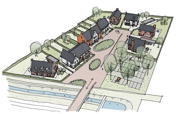 Sfeerbeeld van het laatste deel van plangebied Overhoek Enschotsebaan in Berkel-Enschot (copyright Roozen van Hoppe)