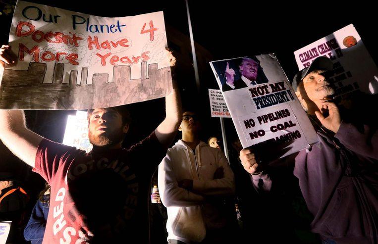 Protest tegen Scott Pruitt in San Diego. Beeld AFP