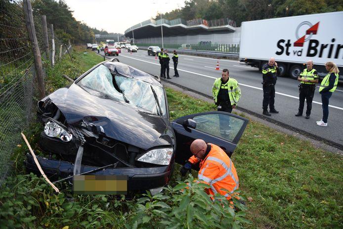 Archiefbeeld: ongeluk op de A28 bij De Uithof.