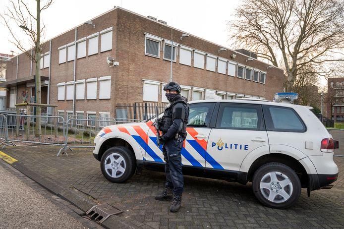 De extra beveiligde rechtbank De Bunker in Osdorp.