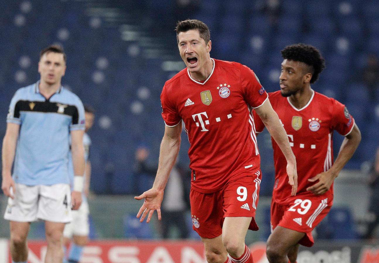 Il n'y a désormais plus que Lionel Messi et Cristiano Ronaldo devant le buteur du Bayern