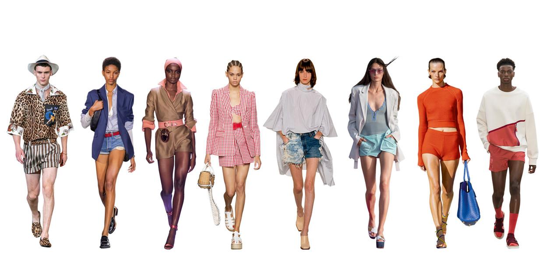 Vanaf links: Dolce & Gabbana, Rag and Bone, Brandon Maxwell, Michael Kors, Givenchy, Jacquemus, Salvatore Ferragamo, E. Tautz Beeld Imaxtree
