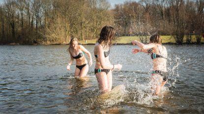 Zestien graden in februari? Iedereen het water in!