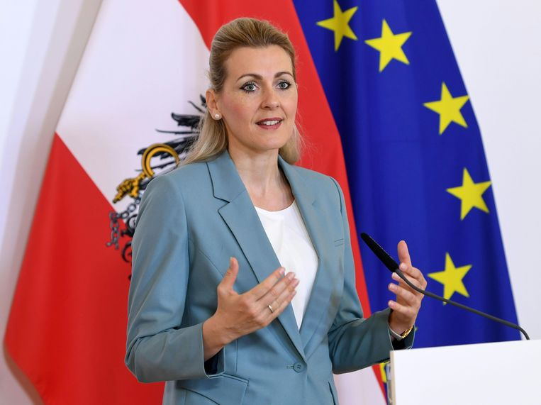 Christine Aschbacher. Beeld AFP