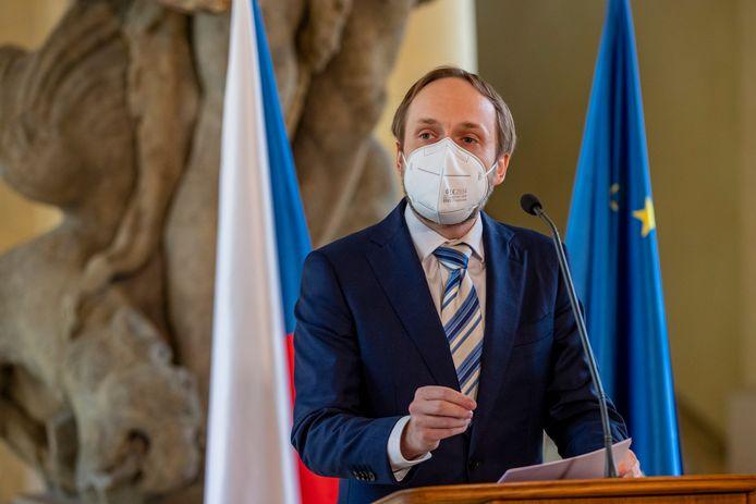 De Tsjechische minister van Buitenlandse Zaken Jakub Kulhanek.