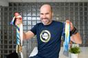 Jan Gevers met zijn medailles.