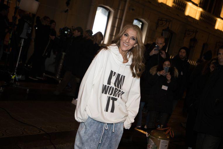 Céline Dion bracht een genderneutrale kindercollectie uit. Beeld Photo News