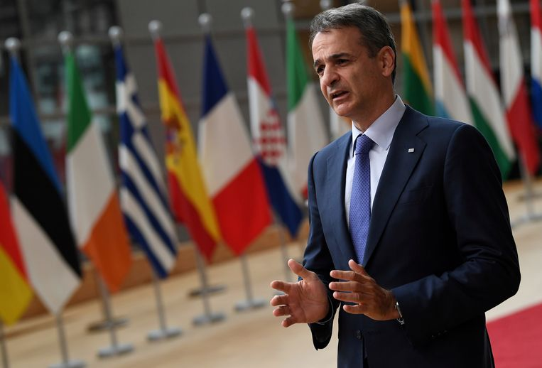 De Griekse premier Mitsotakis Beeld REUTERS