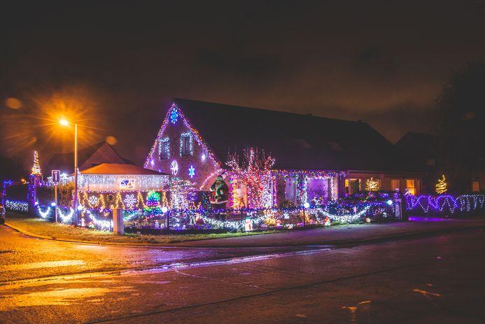Kersthuis in oostakker.