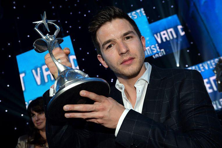 Matteo Simoni als beste acteur. Beeld BELGA