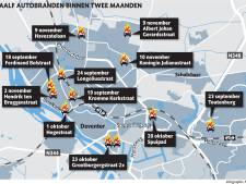 Wie steekt toch al die auto's in Deventer in brand? Twaalf branden, vier dadertypes