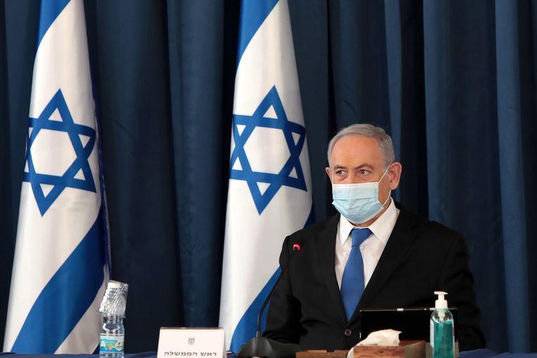Israëlische premier Benjamin Netanyahu. Beeld EPA
