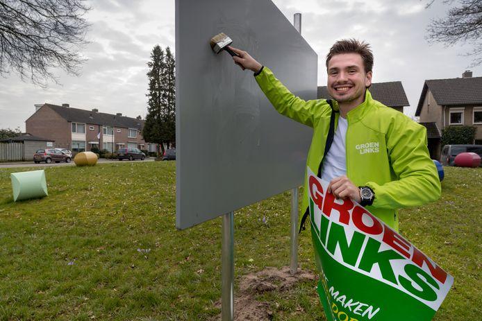 Sam Goossens van GroenLinks in Sint-Michielgestel.