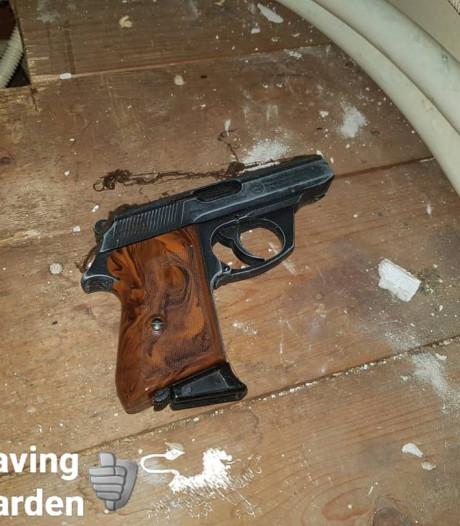 Vuurwapen uit Tweede Wereldoorlog gevonden bij bouwwerkzaamheden in Leeuwarden