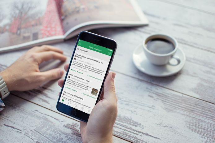 De Nextdoor-app, foto ter illustratie.