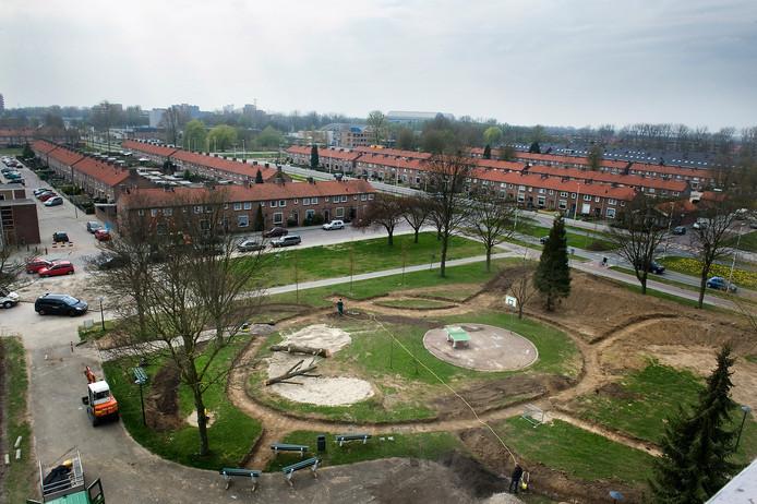 Malburgen gezien vanaf het Bruishuis. In deze wijk zijn veel sociale huurwoningen.