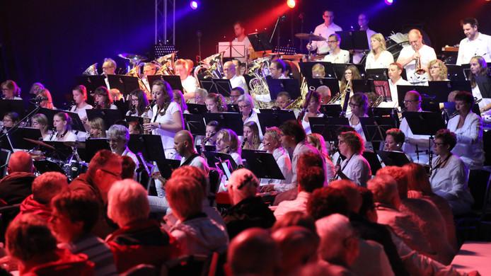 Het harmonieorkest van Excelsior.