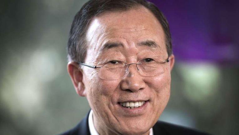 VN-secretaris-generaal Ban Ki-Moon Beeld AFP