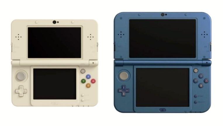 De New Nintendo 3DS en de New Nintendo 3DS XL, twee basismodellen die deze keer tegelijkertijd op de markt komen. Beeld Nintendo