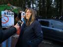 Mama Sabine Dejonghe steunde de actie van Vlaams Belang.
