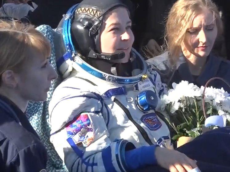 Russische actrice keert na filmopnames in ruimtestation terug op aarde