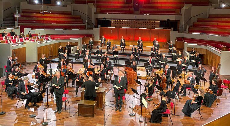 De Matthäuspassion van Bach in TivoliVredenburg, door Amsterdam Baroque Orchestra & Choir, onder leiding van Ton Koopman. Beeld Omroep Max